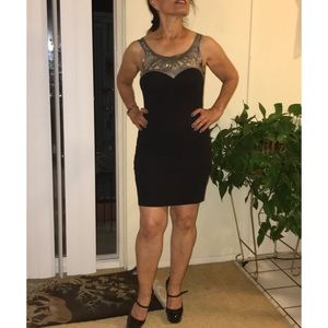 Dresses & Skirts - Black and Silver Dress
